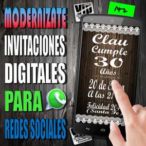 Tarjeta Digital 142 Cumpleaños Mis 15 Cumple 40 50