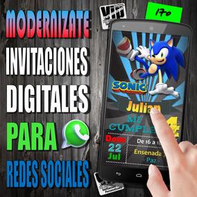 Tarjeta Digital 170 Cumpleaños Sonic Pizarra