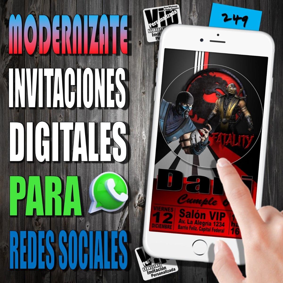 Tarjeta Digital 249 Cumpleaños Mortal Kombat