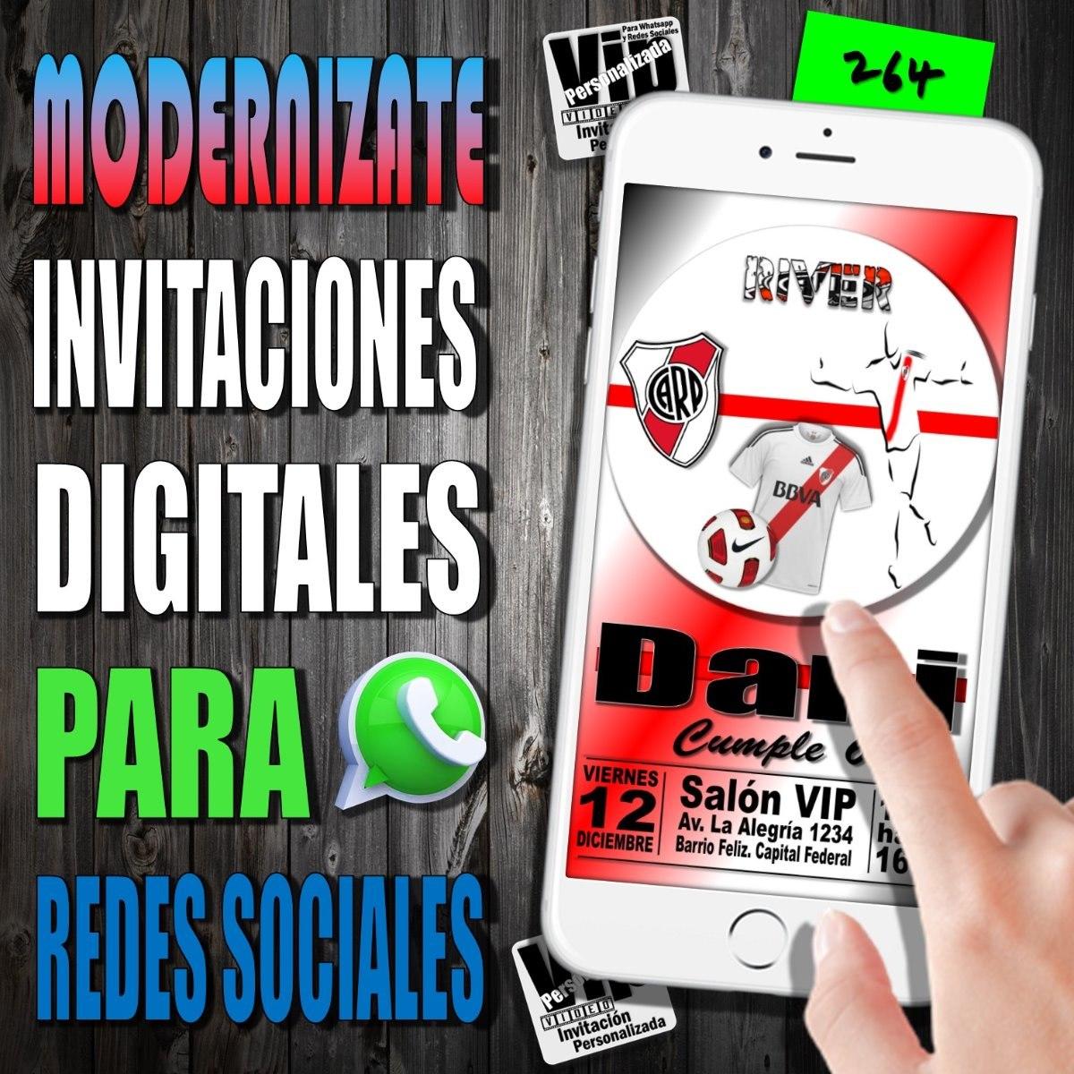 Tarjeta Digital 264 Cumpleaños River Plate