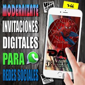 Tarjeta Digital 266 Cumpleaños Spiderman Hombre Araña