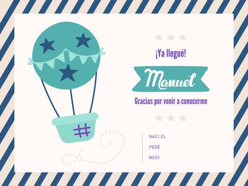 tarjeta digital nacimiento baby shower diseño bebe barquito