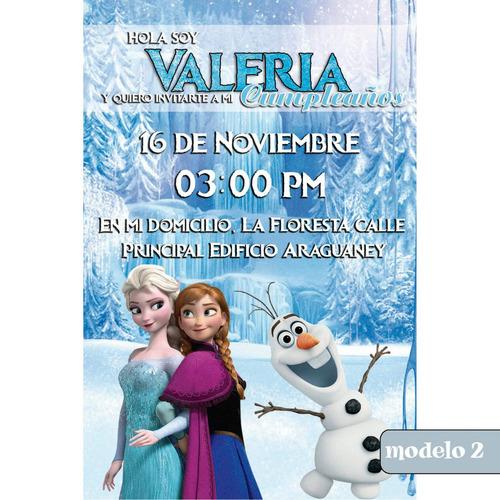 tarjeta digital personalizada de cumpleaños de frozen