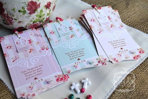 tarjeta estampita de primera comunión :: originales :: x10u