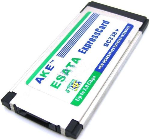 tarjeta expresscard esata sata 2.0 ii 34 34mm adaptador lapt