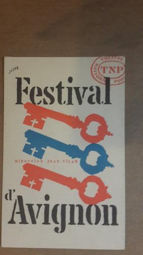tarjeta festival d'avignon, 1954
