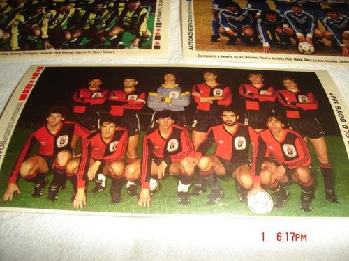 tarjeta/ figurita autoadhesivo superfutbol / newell´s 1987