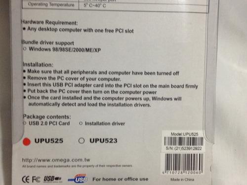 tarjeta firewire de 3 puertos pci y cable firewire ieee1394