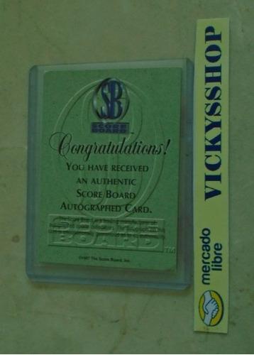 tarjeta firmada por allen iverson certificada por scoreboard