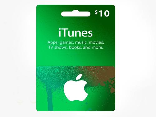 tarjeta gift card itunes 10 usd usa  - entrega inmediata