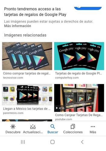 tarjeta google play de 100 pesos