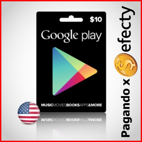 tarjeta google play gift card 10 dolares tarjeta de juego