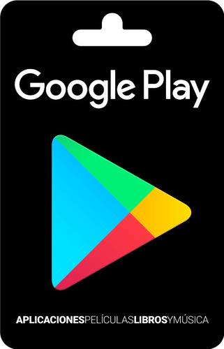 tarjeta google play gift card 20 usd! entrega inmediata!
