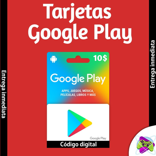 tarjeta google play store 10$ envío digital, free fire