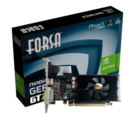 tarjeta grafica forsa geforce gt730 2gb ddr3 pci-e
