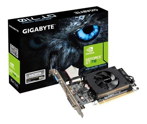 tarjeta grafica gigabyte gt 710 2gb ddr3 pci express 8x