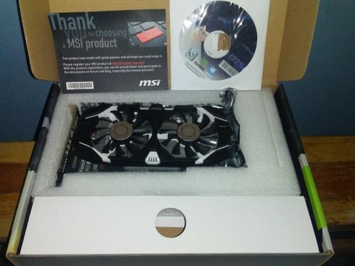 tarjeta grafica msi gtx 1050 oc nueva 2gb dual fan nvidea