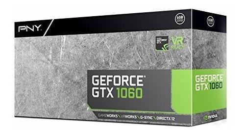 tarjeta gráfica pny geforce gtx 1060 de 6gb (vcggtx10606pb)