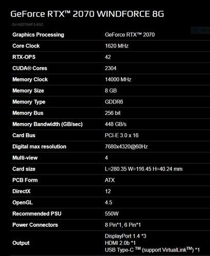 tarjeta gráfica video gigabyte nvidia rtx 2070 - ofertazo!