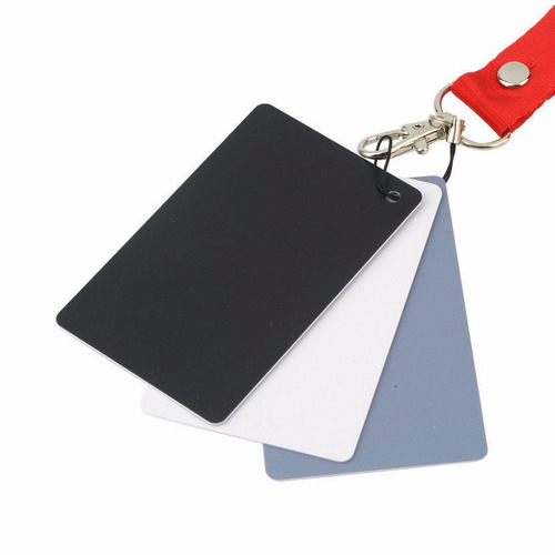 tarjeta gris balance de blancos para exposicion foto y video