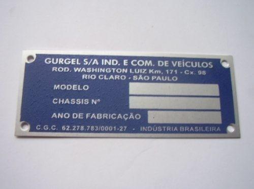 tarjeta gurgel. emblema do cofre
