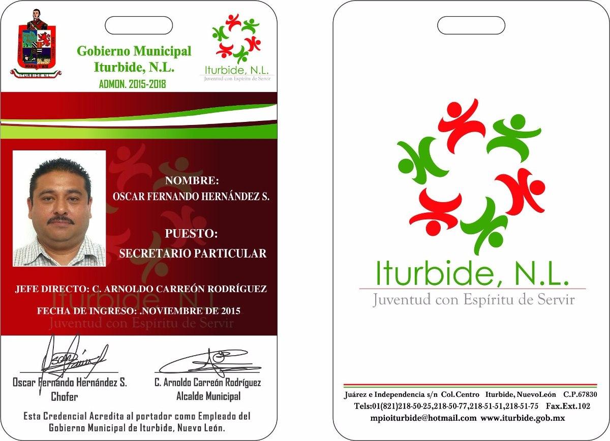 Tarjeta, Identificación,acreditación,gafete, Id, De Pvc - $ 15.00 en ...