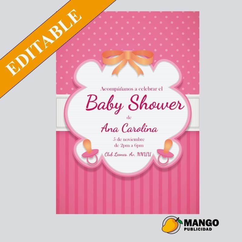 Tarjeta Imprimible Invitación Baby Shower Diseño