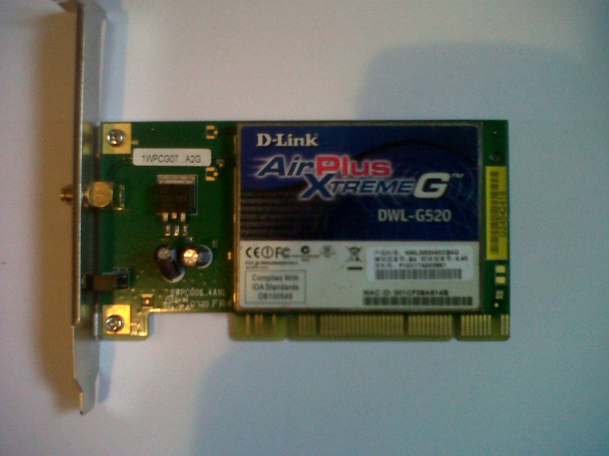 DLINK AIRPLUS XTREME G DWL G520 WINDOWS VISTA DRIVER