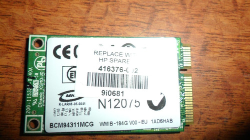 tarjeta inalámbrica wi-fi compaq presario v3017la vbf