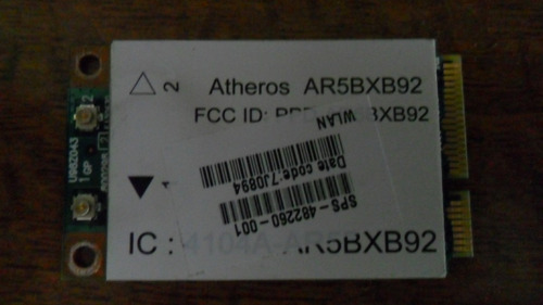 tarjeta inalámbrica wi-fi para: hp pavilion dv7-1130us vbf