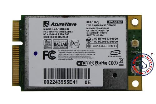 tarjeta inalámbrica wlan wifi wireless modelo ar5bxb63