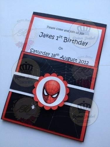 Tarjeta Invitacion Avengers Cumpleaños Hombre Araña
