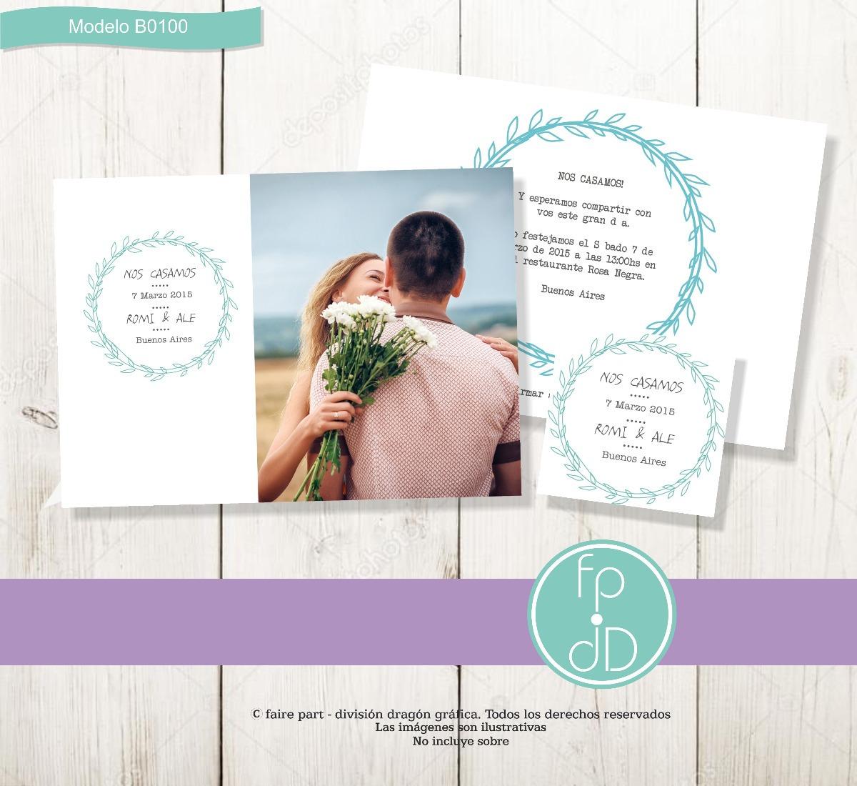 Tarjeta Invitación Boda Casamiento Para Imprimir