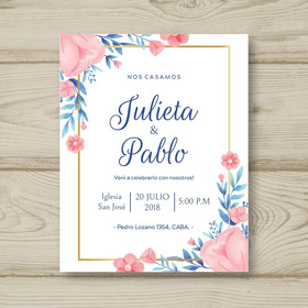 Tarjeta Invitación Casamiento Diseño Personalizado X 25 Unid