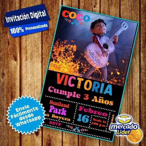 Tarjeta Invitación Cumpleaños Coco Animada Vídeo