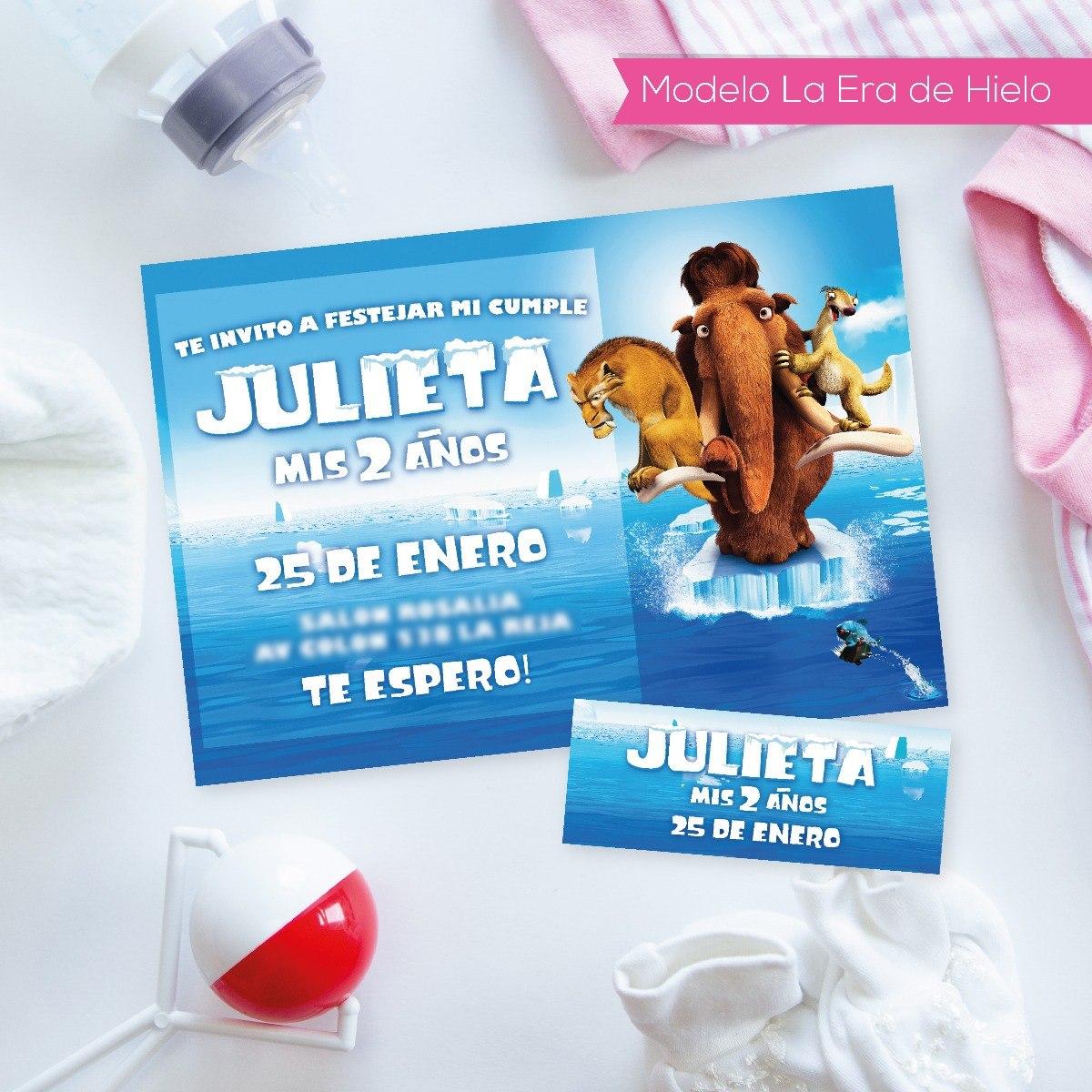 Tarjeta Invitacion Cumpleaños Con Personajes Imprimibles - $ 189,00 ...