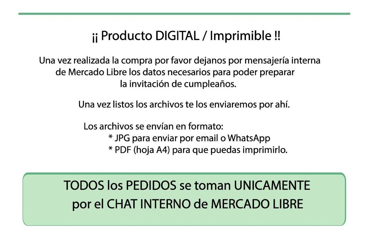 Tarjeta Invitación Cumpleaños Digital Imprimible Barcelona