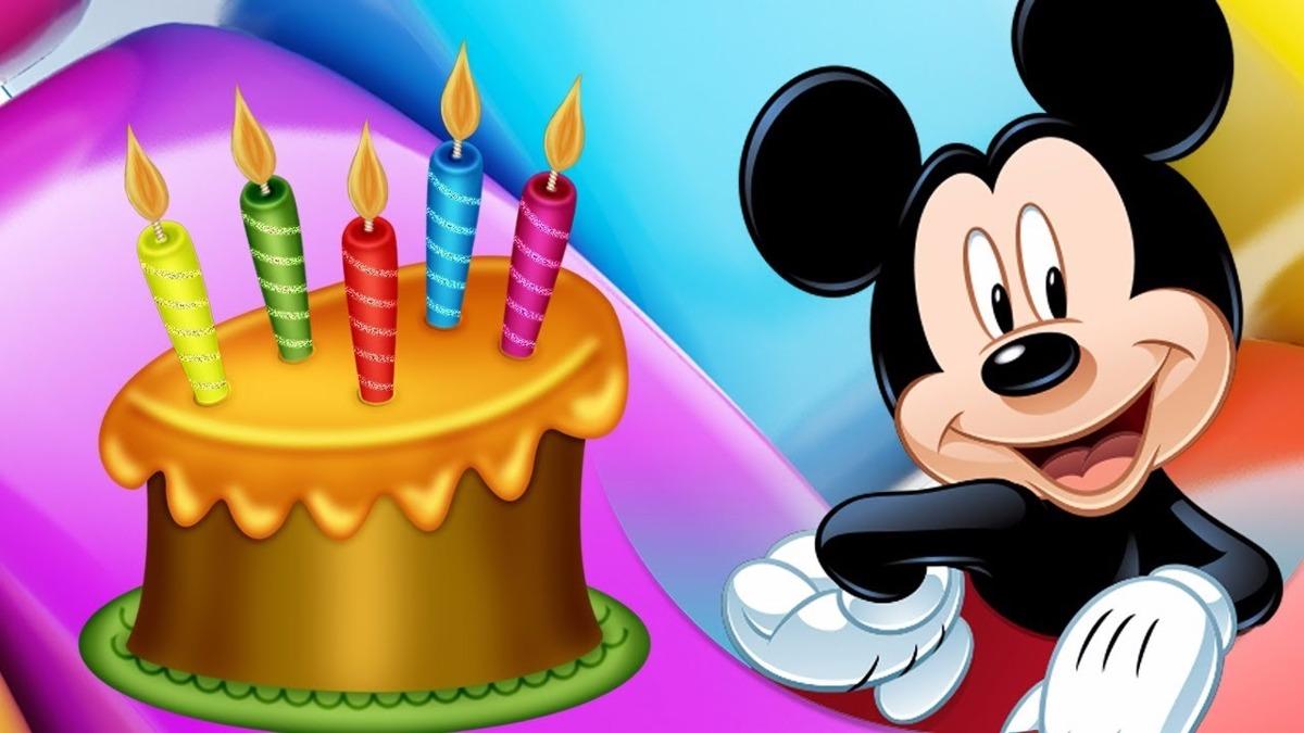 Tarjeta Invitación Cumpleaños Mickey Mouse Animada En Vídeo