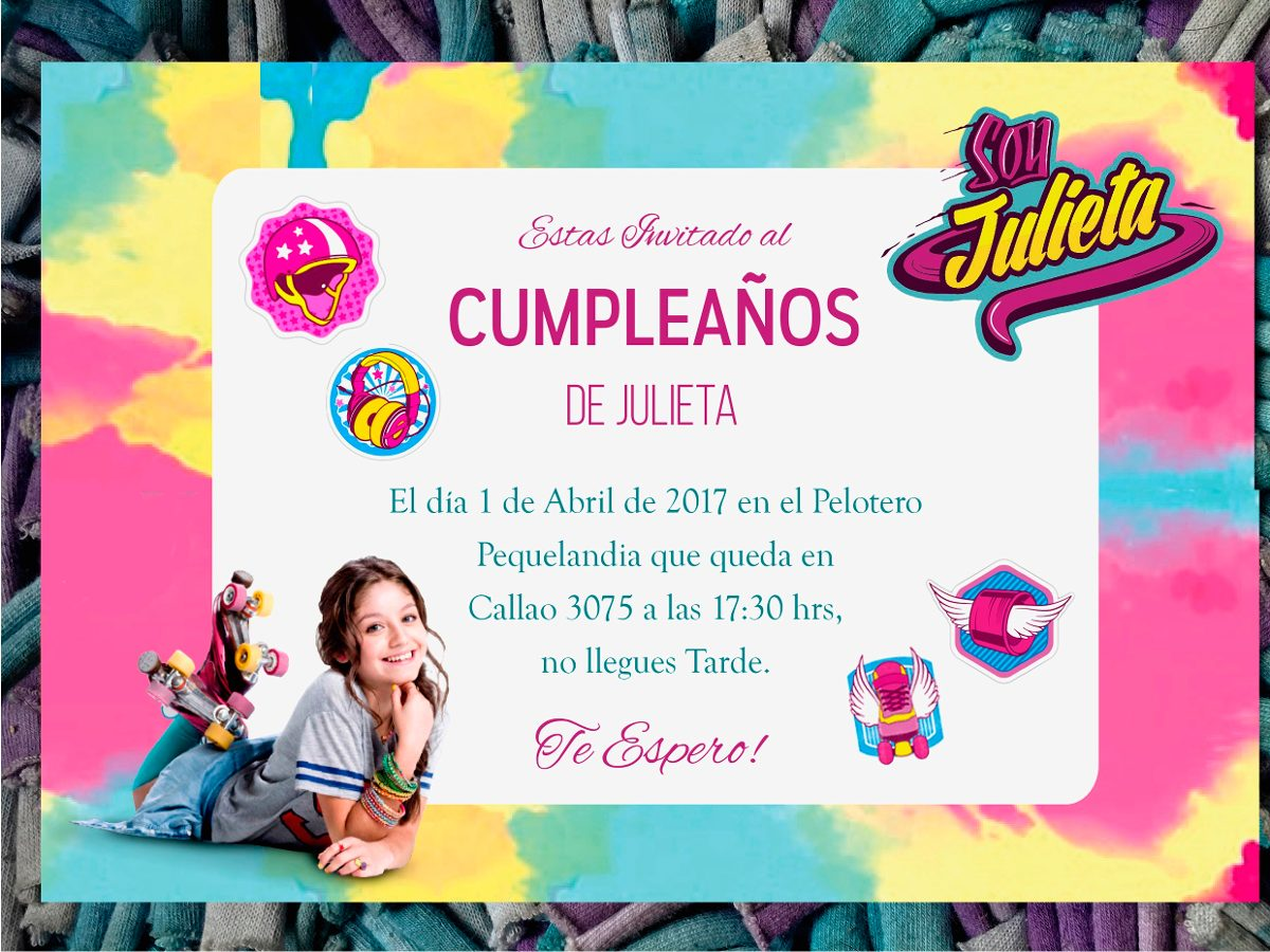 Tarjeta Invitacion Cumpleanos Soy Luna 17 00 En Mercado Libre