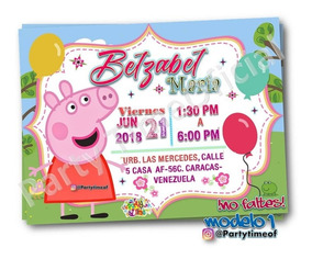 Tarjeta Invitación Digital De Peppa Pig Whatsapp