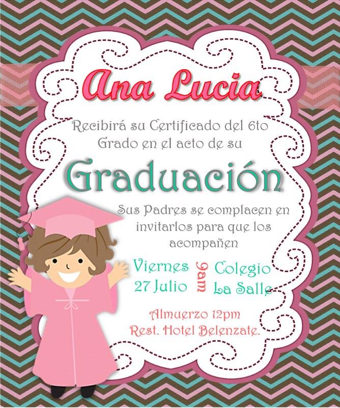 Tarjeta Invitacion Digital Grado Graduacion Niños Y Niñas