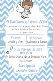Tarjeta Invitacion Digital Para Cumpleaños De Bautismo