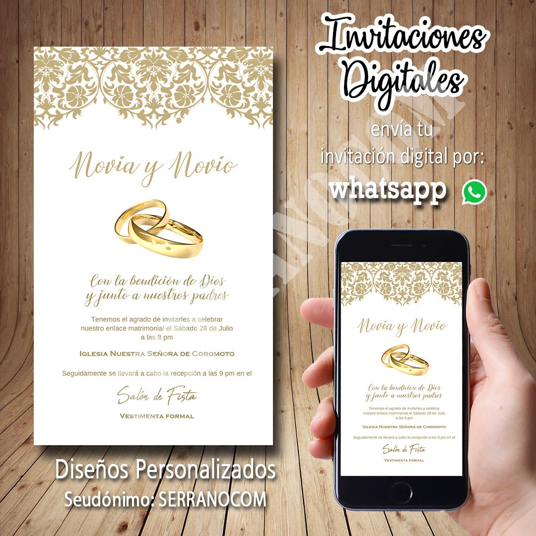 Tarjetas digitales para matrimonio