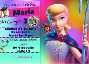 Tarjeta Invitacion Digital Toy Story Nena