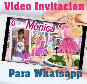 Tarjeta Invitación Digital Vídeo Animado Barbie