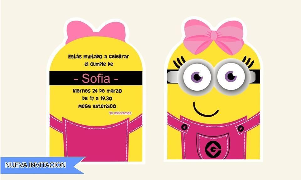 Tarjeta Invitacion Digitales Minions