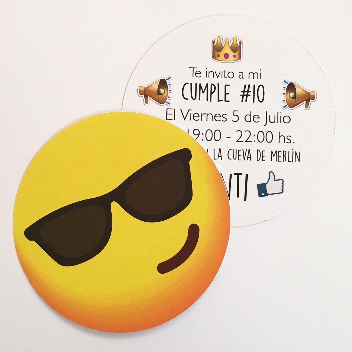 Tarjeta Invitacion Emojis Emoticon Circulares
