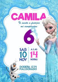 Tarjeta Invitacion Frozen Digital Cumpleaños