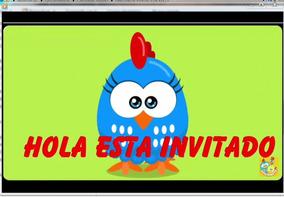 Tarjeta Invitacion Gallinita Pintadita Invitacion Digital