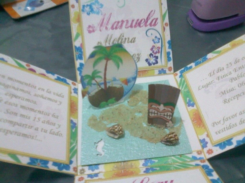 Tarjeta Invitación Hawaiana, Hawaii, Tema Playero, Tropical ...